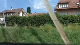Through Train Window Switzerland 09 Stock Video Footage