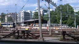 Through Train Window Switzerland 13 Geneva Station Stock Video Footage