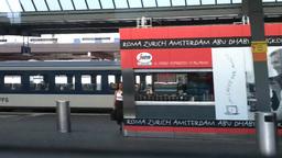 Through Train Window Switzerland 15 Geneva Station Footage