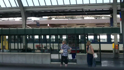 Through Train Window Switzerland 15 Geneva Station Stock Video Footage