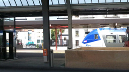 Through Train Window Switzerland 15 Geneva Station Stock Video Footage