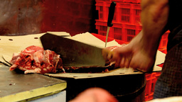 chop meat Stock Video Footage