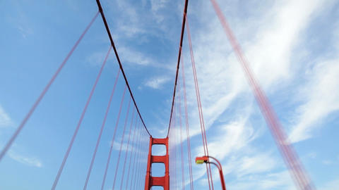 Golden Gate Bridge Drive Stock Video Footage
