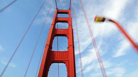 Golden Gate Bridge Drive Stock Video Footage