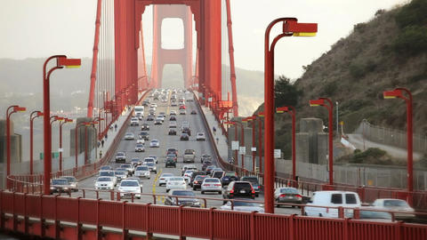 Golden Gate Bridge Traffic Footage