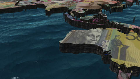 World Pan with Currencies as Countries Stock Video Footage
