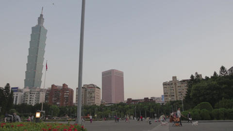 Sunset - sideways dolly shot - Sun Yat-sen Memoria Footage