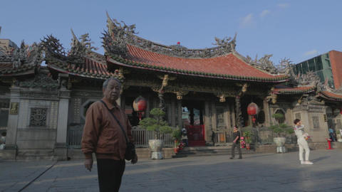In Longshan Temple front courtyard Footage
