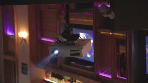 projector in chic lounge - nightlife Stock Video Footage
