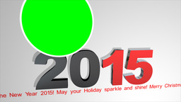 2015 With Running Line And Green Background stock footage