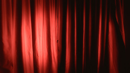 Background establishing shot curtain red right Footage