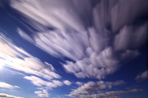 Bright clouds. Clouds blurred. Time Lapse. 4K+ Live Action