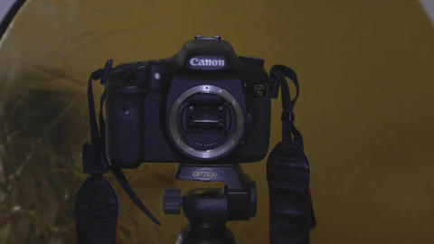 Canon Camera SLR - swapping out the lens Footage