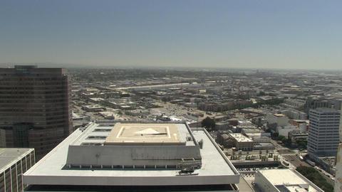 LAPD chopper flies away Live Action