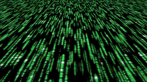 Matrix Code 3d - 4k 30fps Clear Slow Loop, Green O stock footage