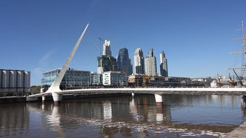 Puerto Madero In Buenos Aires stock footage