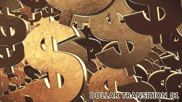 Dollar Signs Transition 3D stock footage
