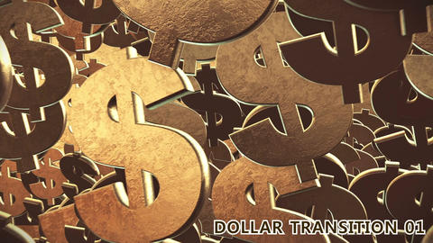 Dollar Signs Transition 3D After Effects Template