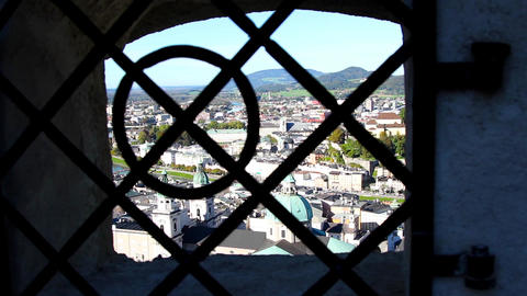 The panorama of Salzburg Footage