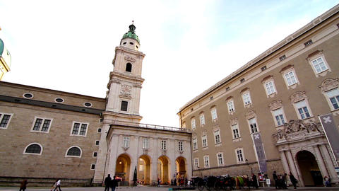 The cathedral of Salzburg Footage