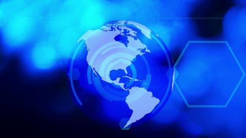 Technology business blue globe background Animation