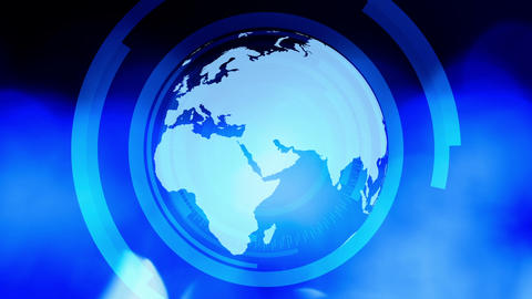 News title globe background Animation