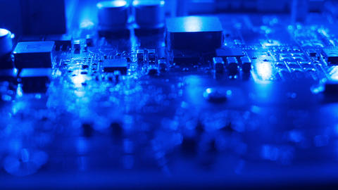 Dark blue electronic background Live Action