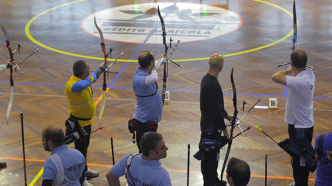 Aiming a Bow , indoor Live Action