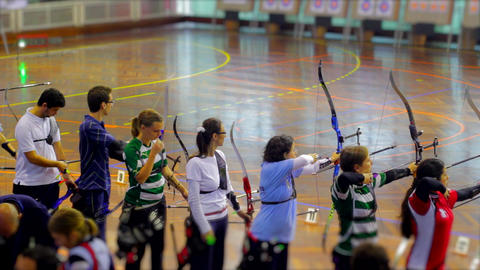 Indoor Bow and Arrow Event Live Action