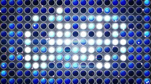 flashing blue light bulbs festive loopable backgro Stock Video Footage