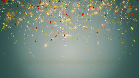 glowing confetti fall seamless loop Animation
