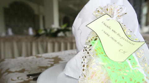 Gift For Wedding Guest stock footage