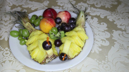Fruit On A Platter At Wedding stock footage
