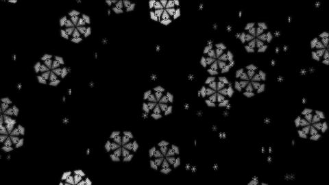 Techno Snowflakes Overlay Loop Animation