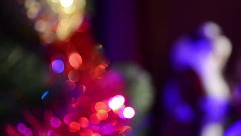 Christmas Decoration And Santa Claus stock footage