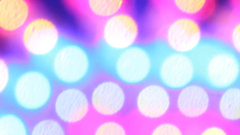 LED Colored Balls stock footage