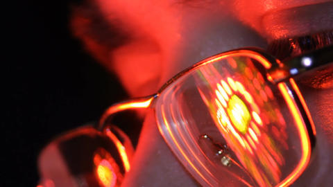 Colored Lights In The Glasses stock footage