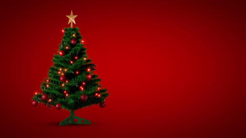 Loopable Christmas Background With Luma Matte stock footage