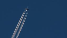 4K Aircraft on Blue Sky 2 Footage
