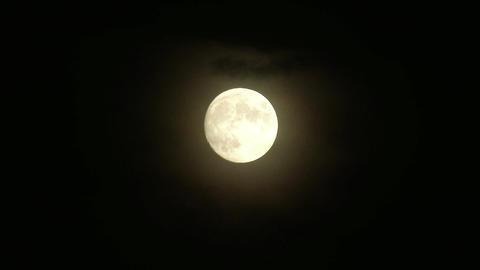 4K Supermoon Full Moon Footage