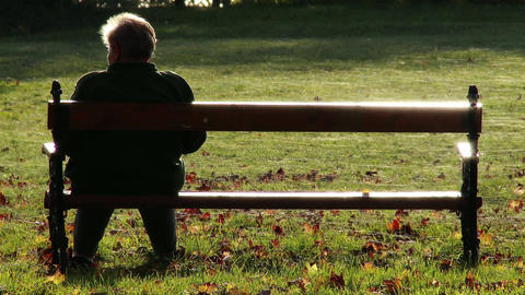 Elder Women Sitting on a Bench in Autumn Park 2 Live Action