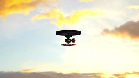 High Tech Wide Angle Film Camera Drone In Action 4 stock footage
