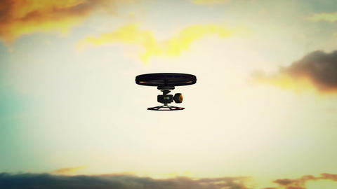 High Tech Wide Angle Film Camera Drone in Action 5 Animation
