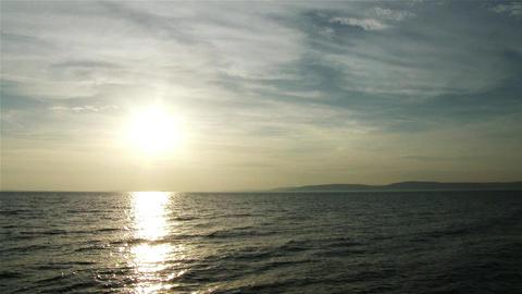 Sunset Over Lake Balaton Hungary 1 stock footage
