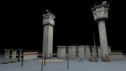 Berlin Wall 3D Model Package 3Dモデル