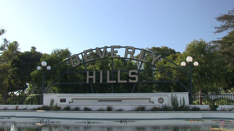 Beverly Hills sign Footage