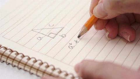 Education Geometry Pythagoras Theorem Footage