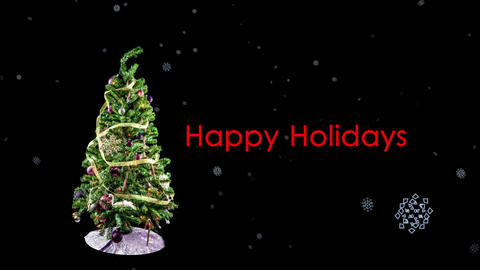 Stop Motion Christmas Tree Loop stock footage