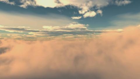 Looping Clouds stock footage
