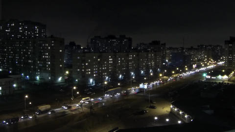 Night Traffic Jam Time Lapse stock footage